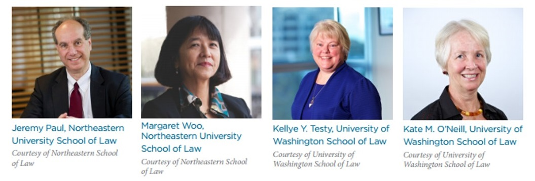 Dean Jeremy Paul and Professor Margaret Y. Woo of Northeastern University School of Law, and Dean Kellye Y. Testy and Professor Kate M. O'Neill of the University of Washington School of Law
