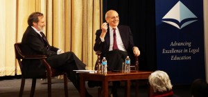 U.S. Supreme Court Justice Stephen Breyer discusses the global nature of law with Alan Morrison, The George Washington University Law School.