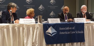 Federal judges Jeremy Fogel, Gladys Kessler, Harry Edwards, and Jed Rakoff discuss the use of scientific testimony and information in the courtroom during the AALS/National Academy of Sciences joint program.