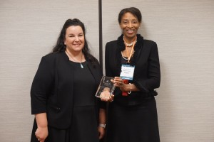 Jill Fraley, Washington and Lee University School of Law, accepts the 2016 AALS Scholarly Papers Competition Award.