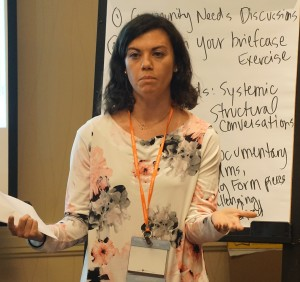 Allison Korn, University of Baltimore School of Law, presenting at a session on clinics in rural communities.