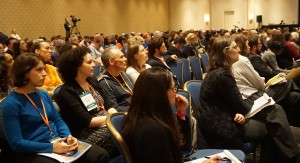 Conference attendees enjoy the Opening Plenary Session.