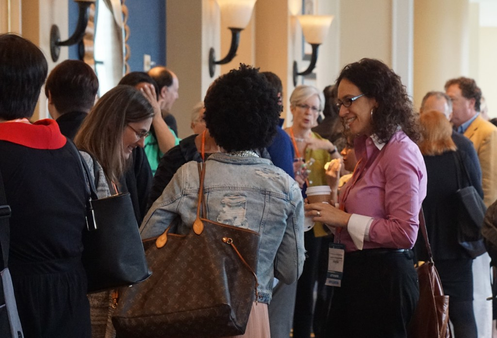 Networking at the 2016 AALS Clinical Conference.