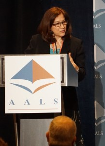 AALS Clinical Conference Planning Committee Chair Phyllis Goldfarb, The George Washington University Law School.