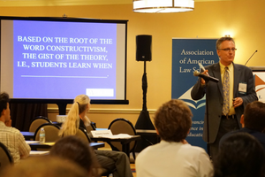 Michael H. Schwartz, Dean, University of Arkansas at Little Rock, William H. Bowen School of Law during the plenary session on learning theory.