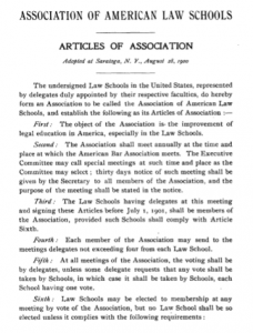 AALS Articles of Association