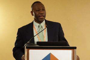 Guy-Uriel E. Charles, Duke University School of Law, during a session on diversity and inclusion.