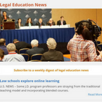 Screenshot of AALS Legal Education News page