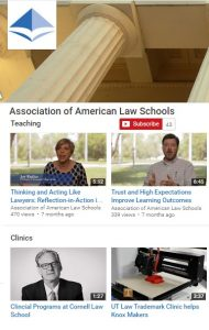 Screenshot of the AALS YouTube Channel