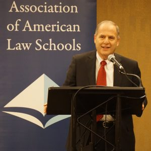 2017 AALS President Paul Marcus, William & Mary Law School, at the 2017 AALS Annual Meeting