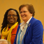 AALS Executive Committee member Camille A. Nelson with AALS President-Elect Wendy Collins Perdue at the 2017 AALS Annual Meeting