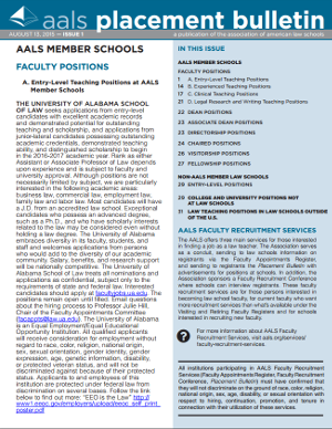 Placement Bulletin sample issue