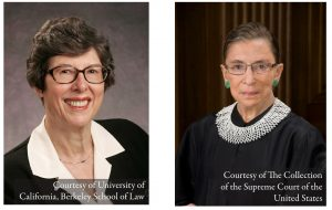 UC Berkley professor and former dean Herma Hill Kay and U.S. Supreme Court Justice Ruth Bader Ginsburg