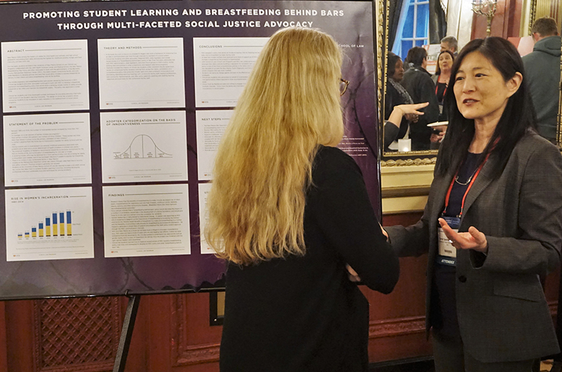 "Carol Suzuki (University of New Mexico Law) discusses her poster ""Promoting Student Learning and Breastfeeding Behind Bars Through Multi-Faceted Social Justice Advocacy."""