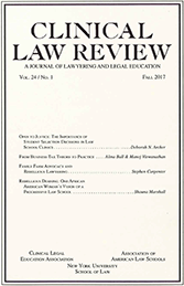 Cover of Clinical Law Review