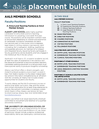 Cover of the Placement Bulletin