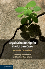 Book Cover-Legal Scholarship for the Urban Core