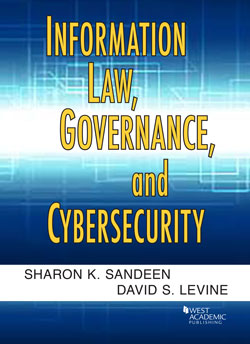 Book Cover-Information Law, Governance and Cybersecurity