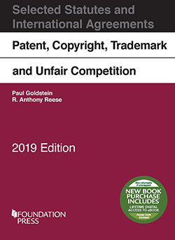 Book Cover-Patent, Copyright, Trademark, and Unfair Competition