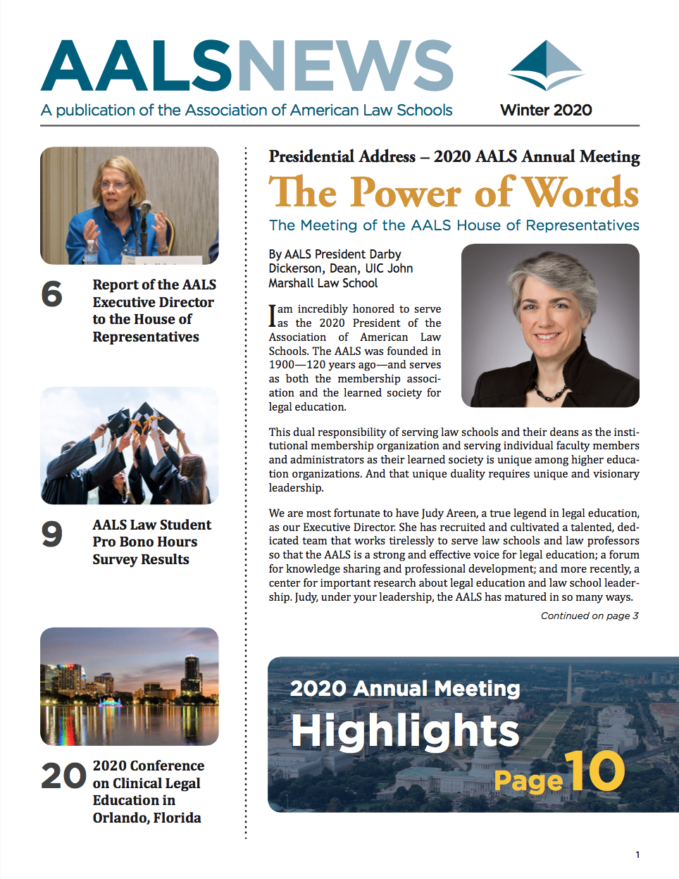 AALS News Cover