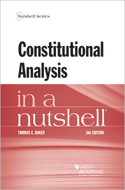 Book Cover-Constitutional Analysis in a Nutshell